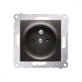 Zásuvka 250 V Simon 54 premium s clonkami modul antracit